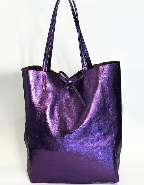 Cala Gracio Tote - Metallic Purple