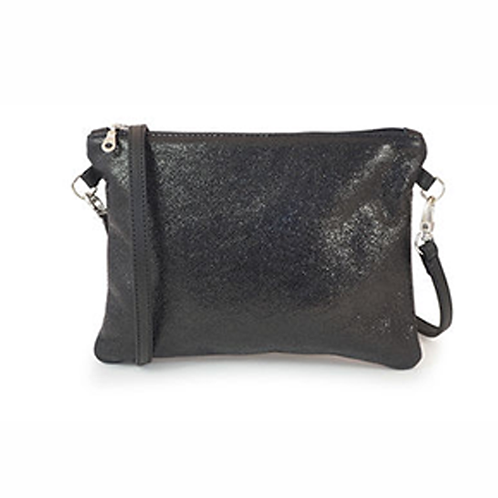 Las Salinas Clutch - Metallic Black