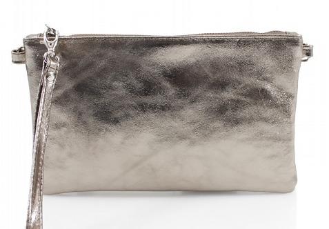 San Jordi - Bronze Metallic Leather Clutch Bag