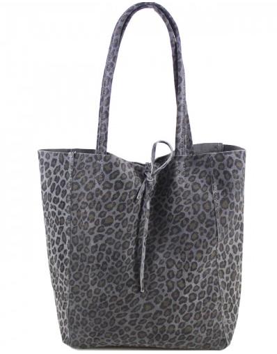 Cala Gracio Tote - Grey Leopard