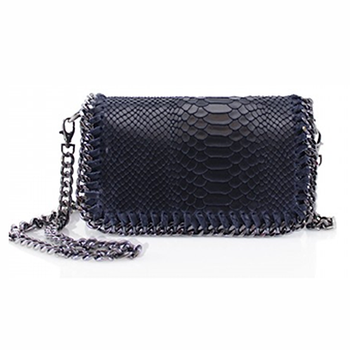 Sant Antoni Clutch/Cross Body Chain Bag - Navy