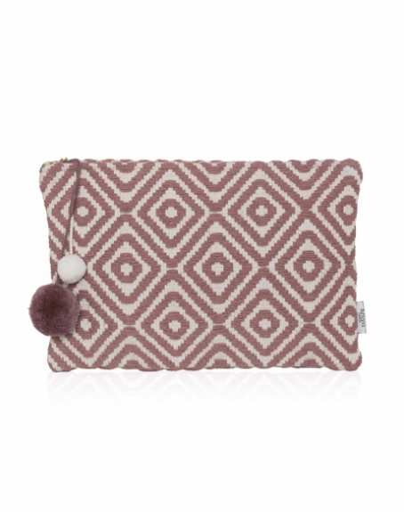 Santa Eulalia Large Clutch - Dusty Pink Diamond