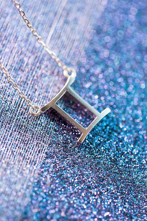Gemini Sterling Silver Zodiac Pendant