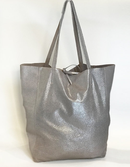 Cala Gracio Tote - Metallic Grey