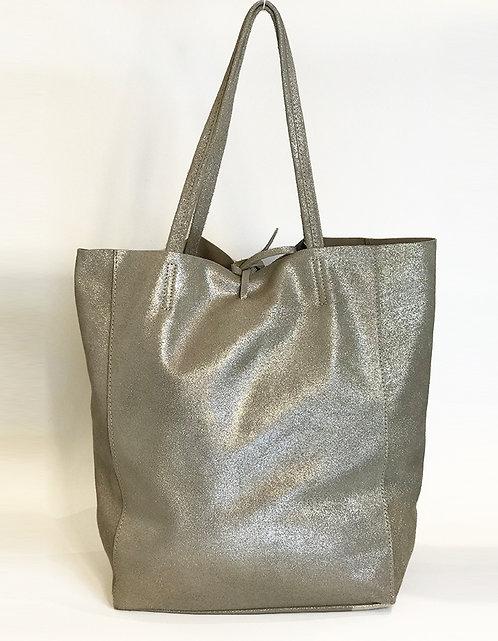 Cala Gracio Tote - Metallic Platinum