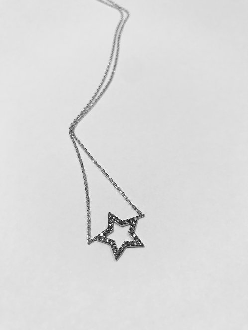 Ariana 9ct Star Black Diamond Pendant