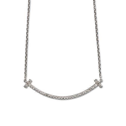 Elisa 9ct White Gold & Diamond Necklace