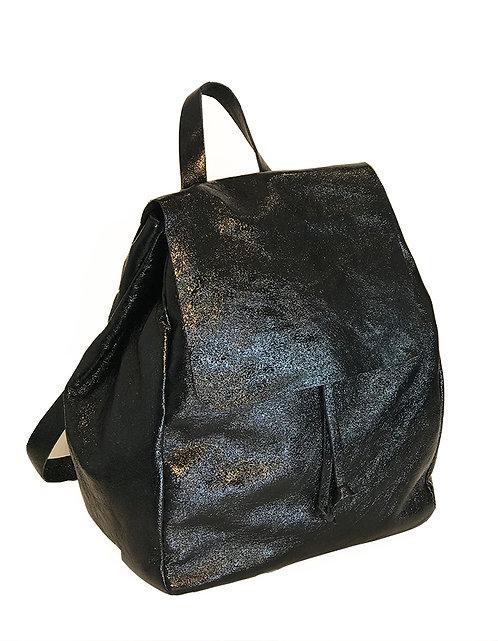 Cap Negret Backpack - Metallic Black