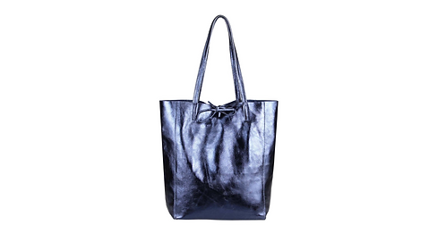 Cala Gracio Tote - Metallic Navy