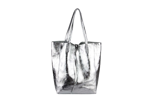 Cala Gracio Tote - Metallic Silver