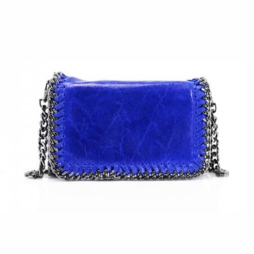 Sant Antoni Clutch/Cross Body Chain Bag - Cobalt