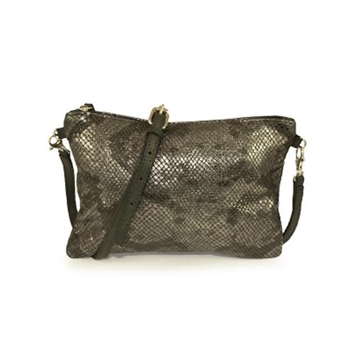 Talamanca Shoulder Bag - Bronze Snake Print