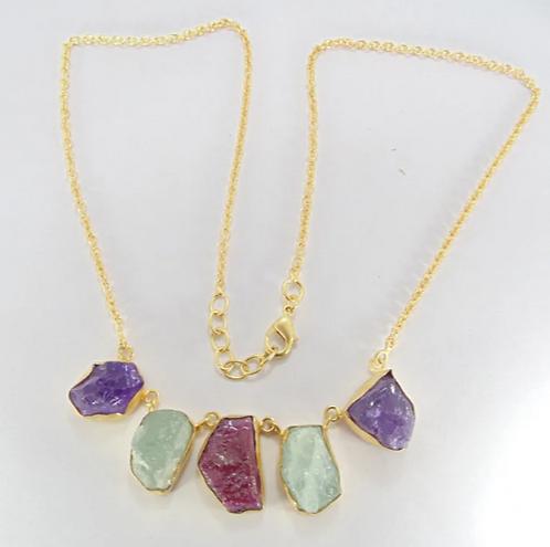 Bonita - Amethyst, Aquamarine & Ruby