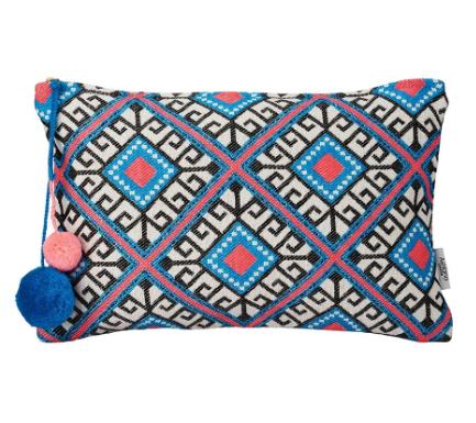 Sanata Eualia - Pink & Blue Geometric