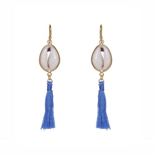 Concha Earrings - Cornflower Blue