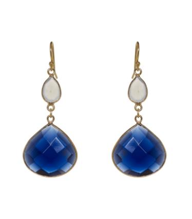 Azul Earrings - Moonstone & Iolite