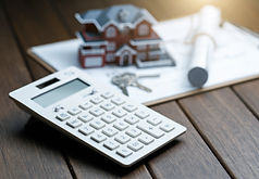 calculator-front-villa-house-model-with-