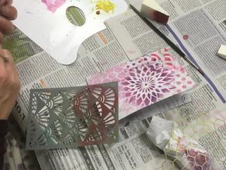 Atelier Junk Journal Calligraphié : les fonds