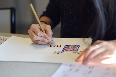 Atelier prénom enluminure et calligraphie