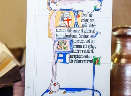 Les Cours d'enluminure / calligraphie reprennent ...