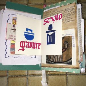 Livret d'artiste calligraphié