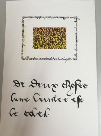 Cours de calligraphie et d'enluminure à l'Artistorium