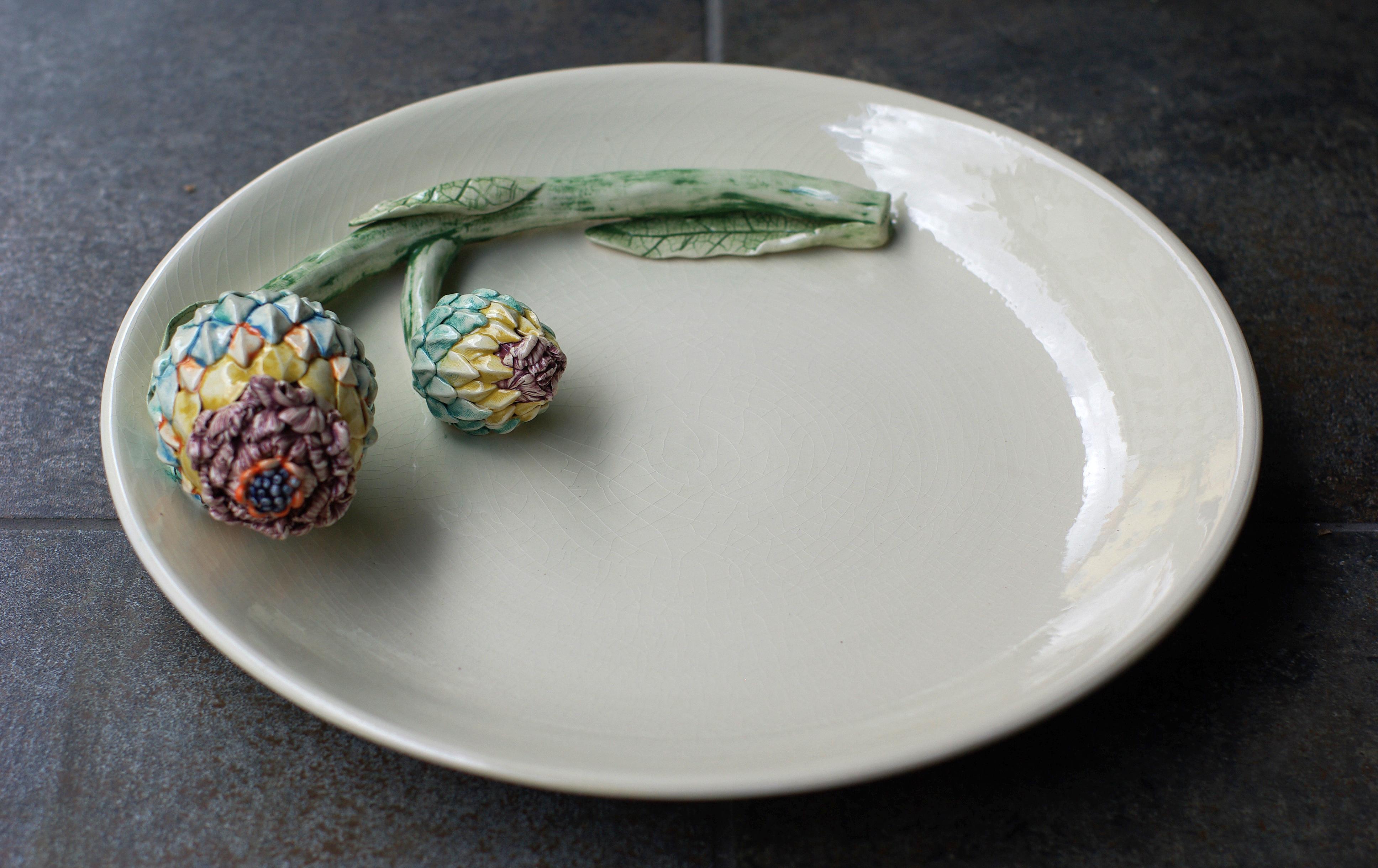 Lėkštė su gėle