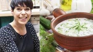 Nomedos Marčėnaitės šalta česnakinė sriuba