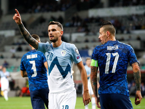 Stojanovic's first goal for Slovenia