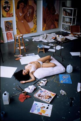 Monica  in Her Studio