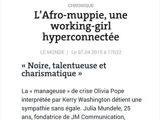 """""""Une working-girl hyperconnectée""""             Julia dans Le Monde Afrique !"""