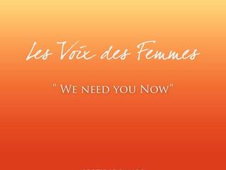 """""""We need you now"""" c'est le nouveau single de l'association Unissons Nos Voix, qui"""