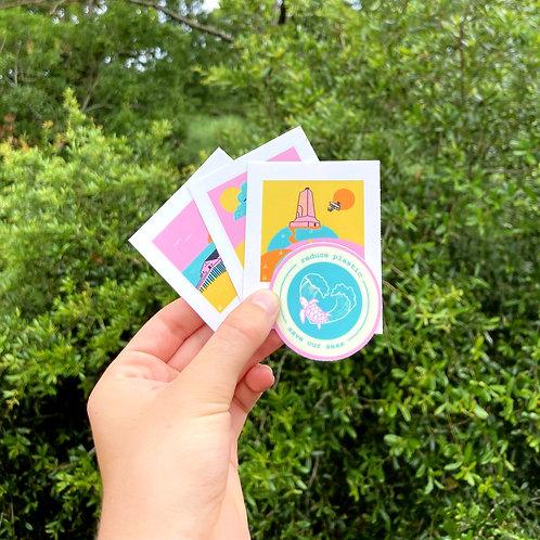 4 piece sticker pack