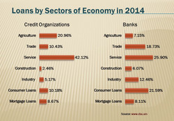 Loans by Sectors of Economy in 2014