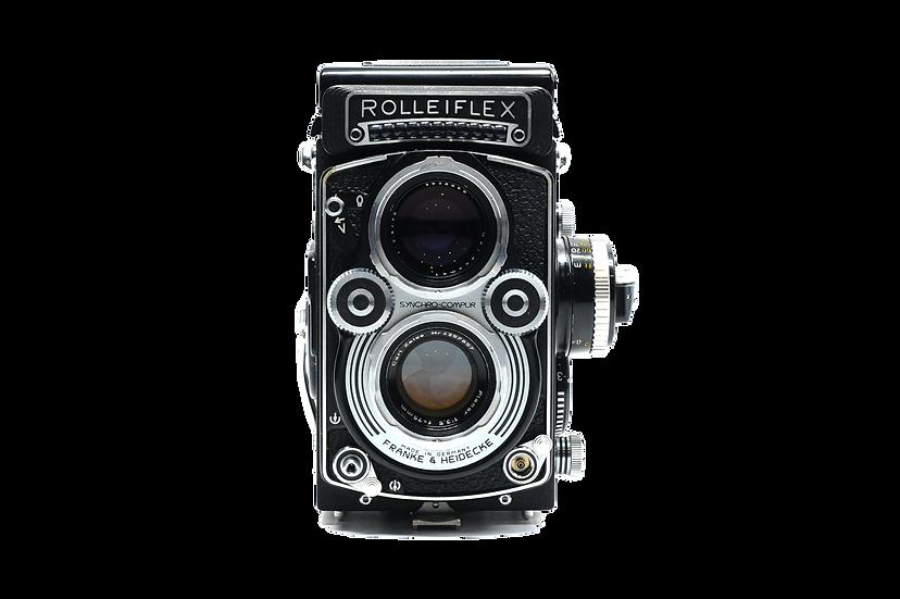 Rolleiflex 75mm f/3.5 Medium Format Film Camera with Filters
