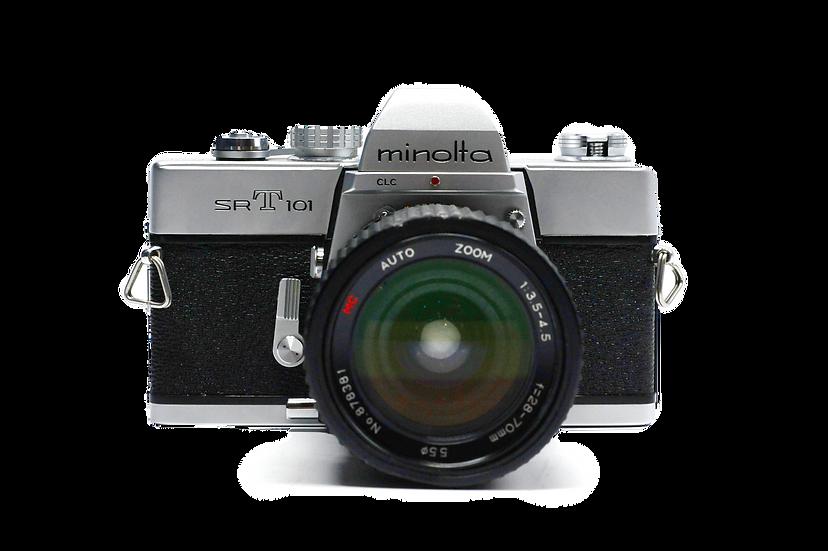 Minolta SRT 101 Film Camera w/ 28-70mm Lens