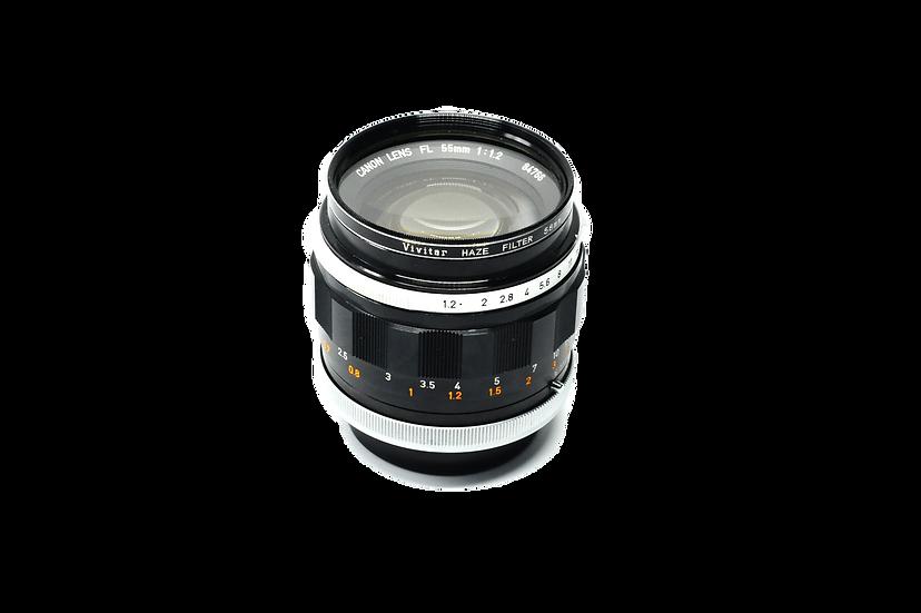Canon 55mm f/1.2 FL Manual Lens