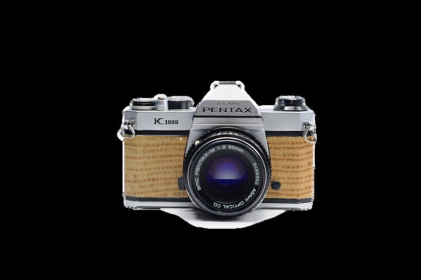 Pentax K1000 Custom Snakeskin Grip Film Camera w/ 50mm f/2 Lens