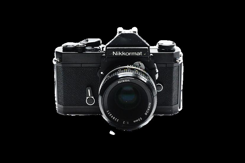 Nikon Nikkormat Film Camera with 50mm f/2 Lens