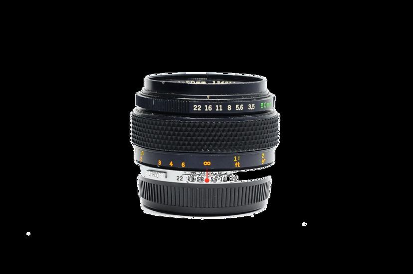 Olympus Zuiko 50mm F/3.5 Macro OM Mount Manual Focus Lens