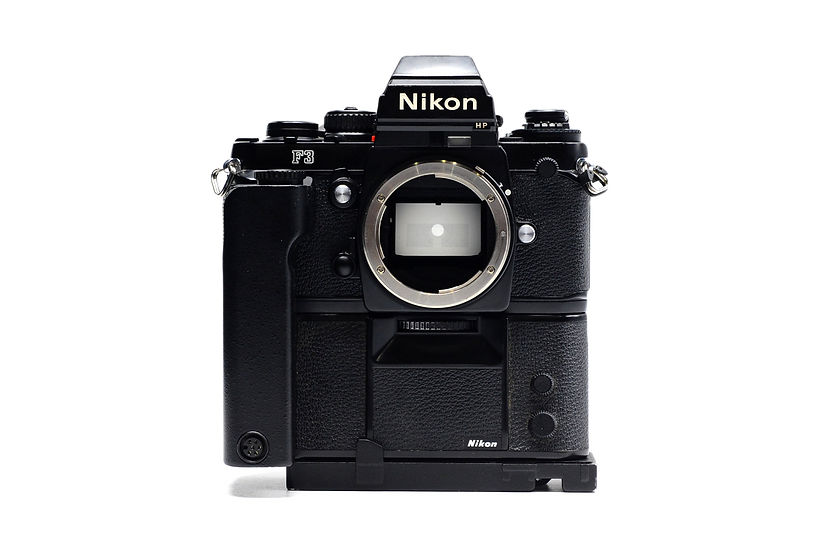 Nikon F3 HP Finder Film Camera & MD-4 Motor Drive (Body Only)