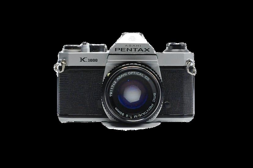 Pentax K1000 Film Camera with 50mm f/2 Lens
