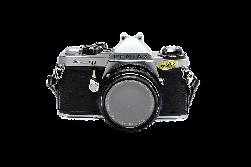 Pentax ME Super Film Camera with 50mm f/2 Manual Focus Lens