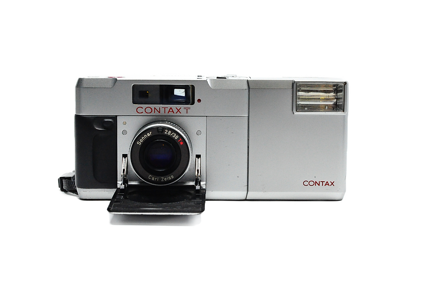 Contax T 35mm Rangefinder Film Camera, T14 Auto Flash