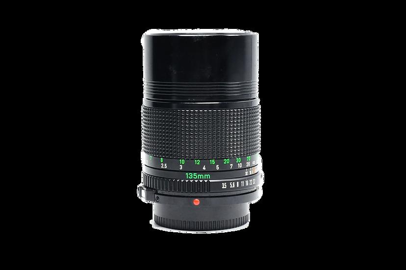 Canon 135mm f/3.5 FD Manual Focus Lens