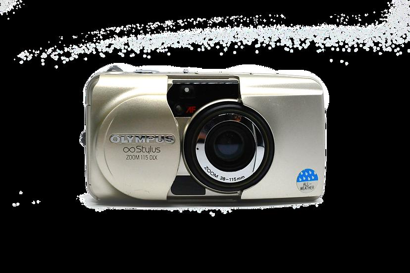 Olympus ∞ Stylus Zoom 115 DLX 35 mm Film Camera
