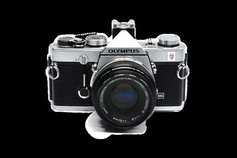 Olympus OM-2n Film Camera with 50mm f/1.8 Lens