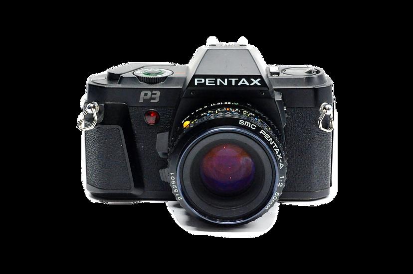 Pentax P3 MF Film Camera with 50mm f/2 Lens