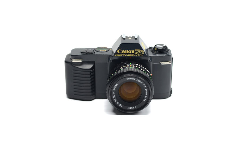 Canon T50 Film Camera with 50mm f/1.8 Lens