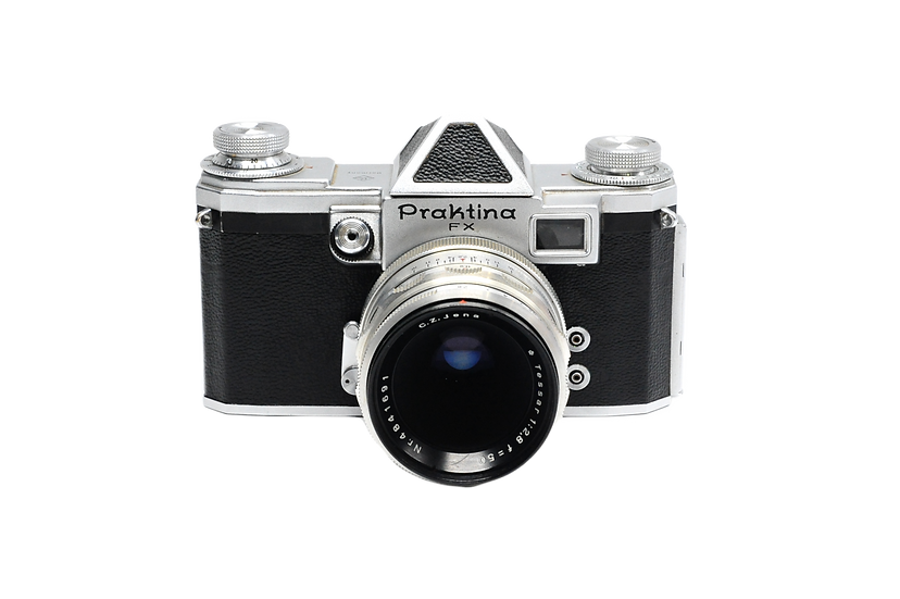 Praktina FX Film Camera with 50mm f/2.8 C.Z Jena Tessar Lens